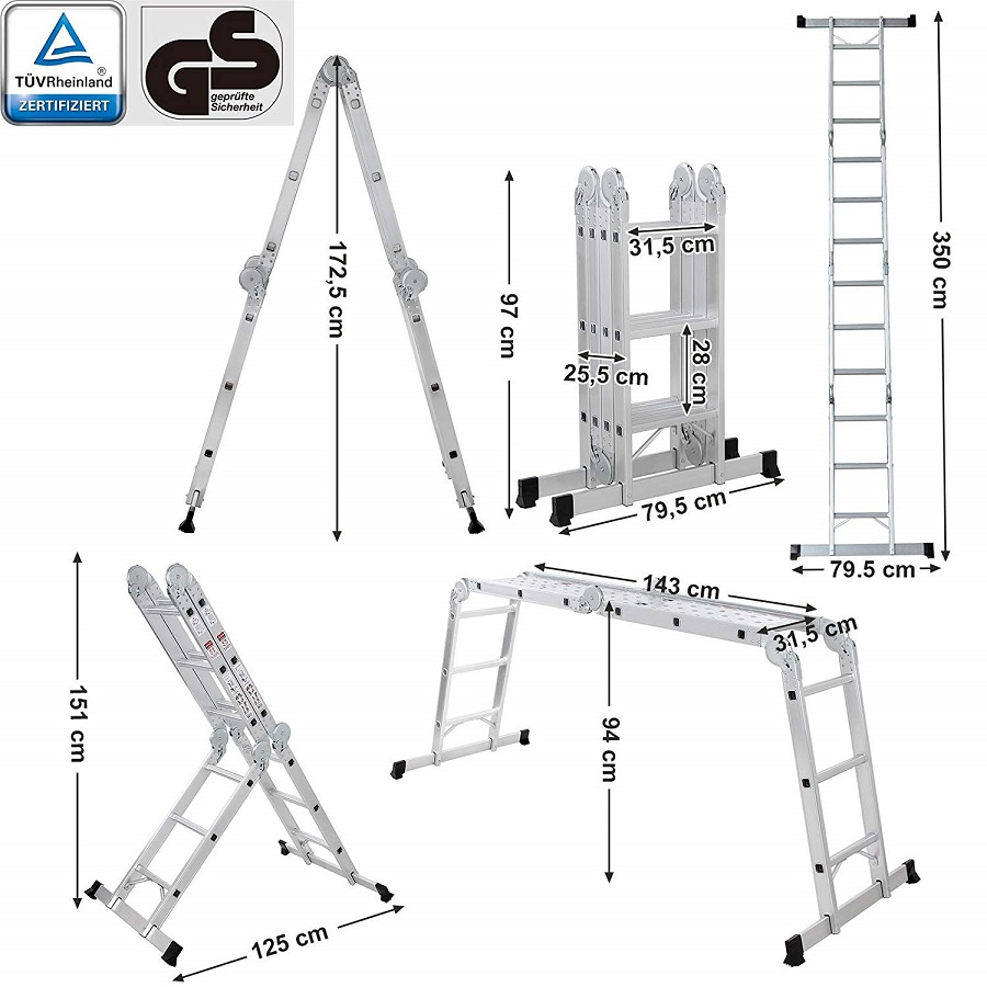 Escalera Multifuncional GS GLT36M SONGMICS